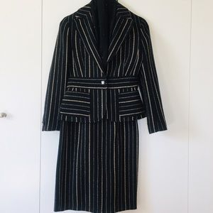 Jackets & Blazers - One-button thick blazer & Pencil skirt career suit